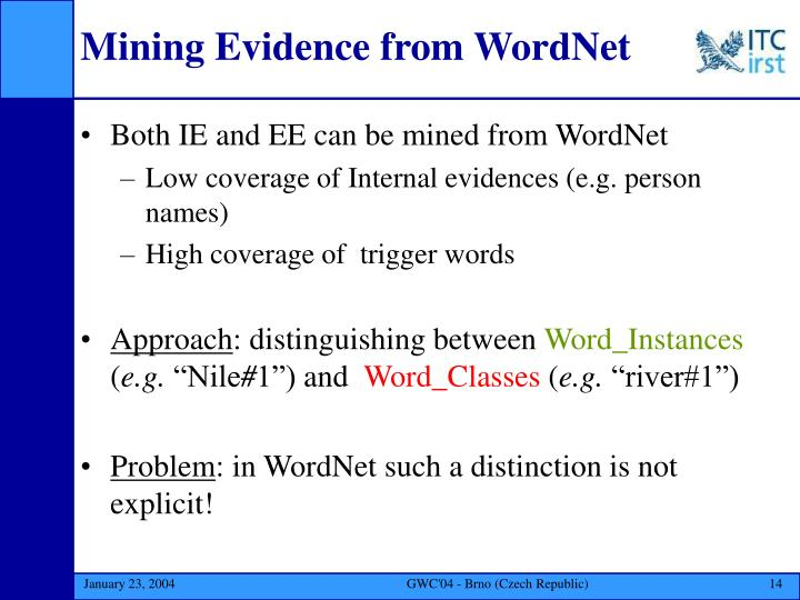 Mining Evidence from WordNet