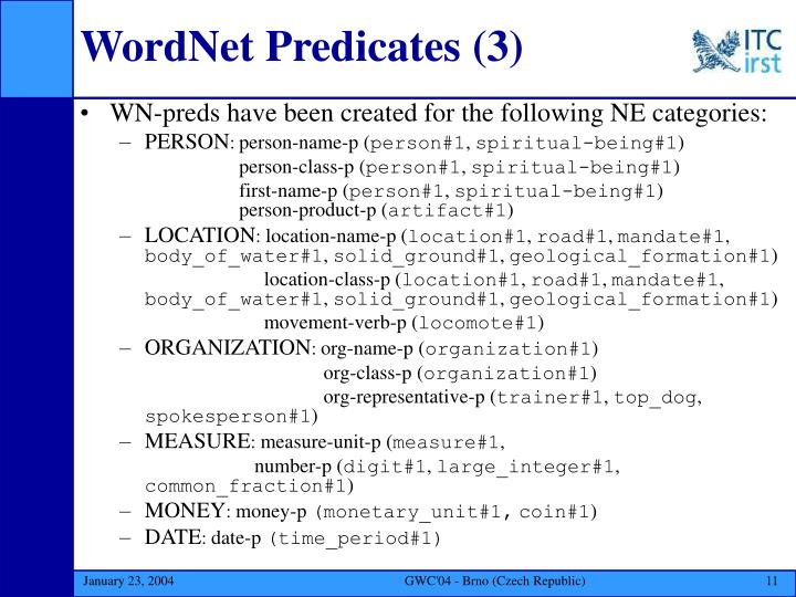WordNet Predicates
