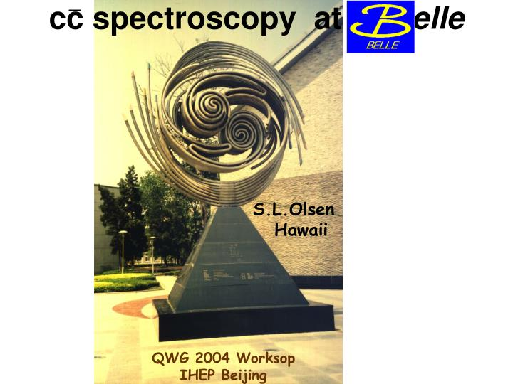 Cc spectroscopy at elle