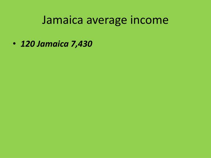 Jamaica average income