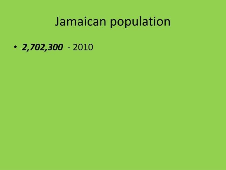 Jamaican population