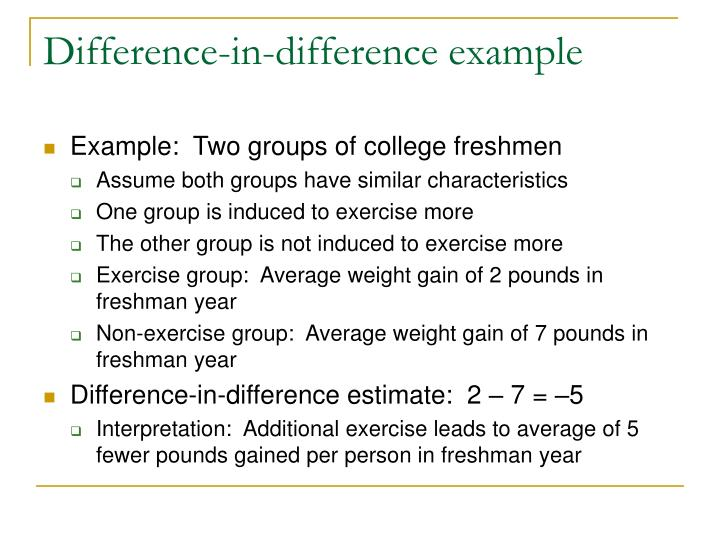 Difference-in-difference example
