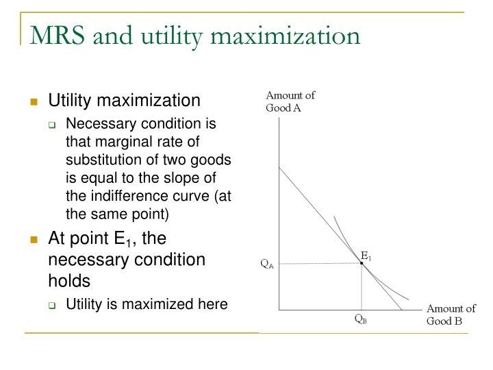 Utility maximization