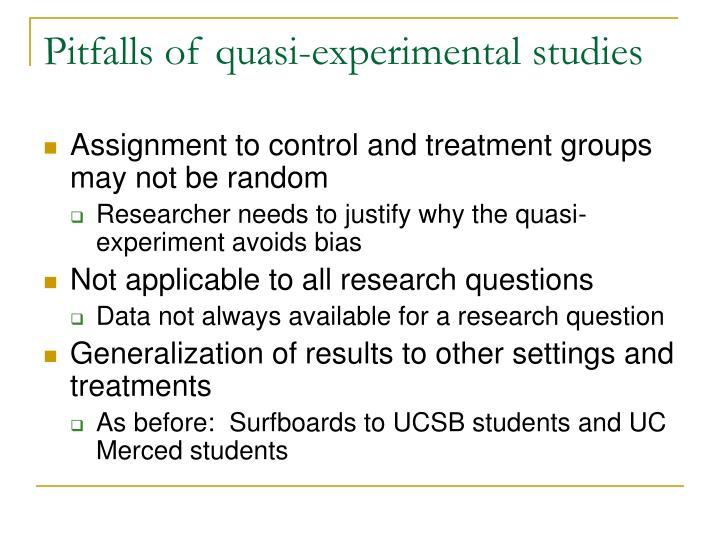 Pitfalls of quasi-experimental studies