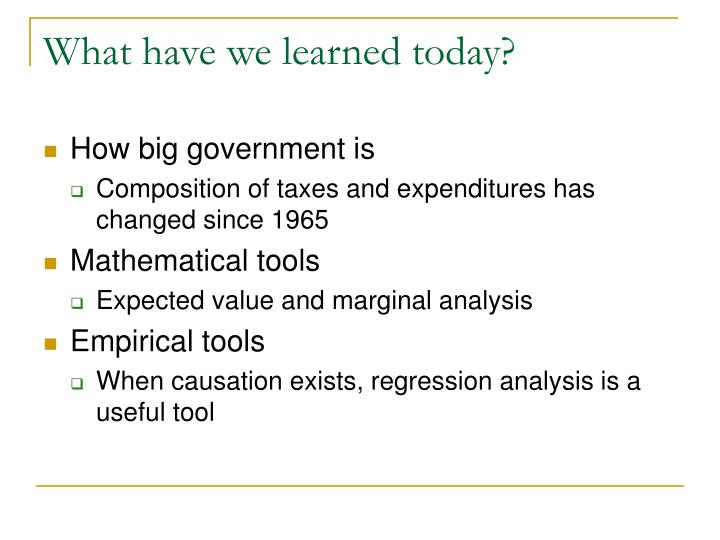 What have we learned today?