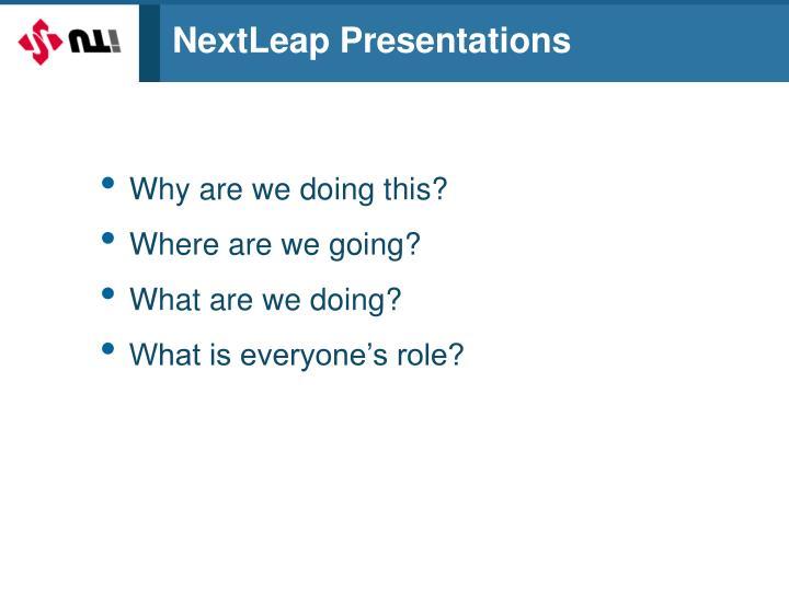 NextLeap Presentations