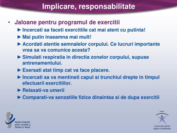 Implicare, responsabilitate