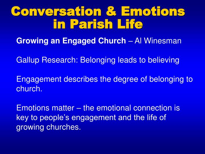 Conversation & Emotions