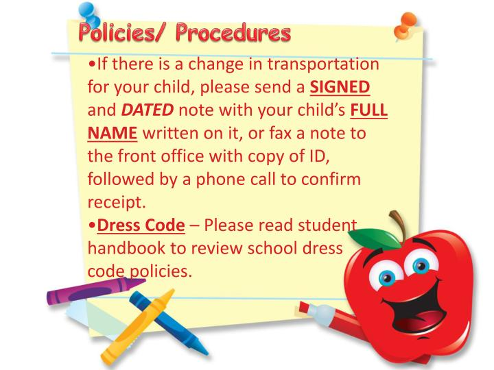 Policies/ Procedures
