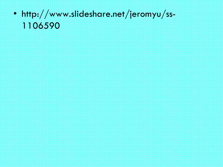http://www.slideshare.net/jeromyu/ss-1106590
