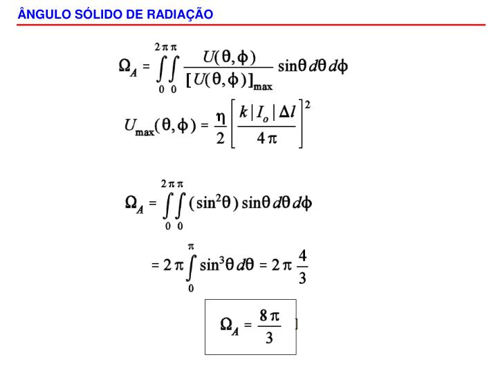 ÂNGULO SÓLIDO DE RADIAÇÃO