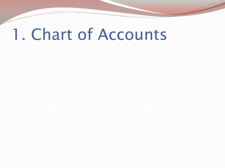 1. Chart of Accounts