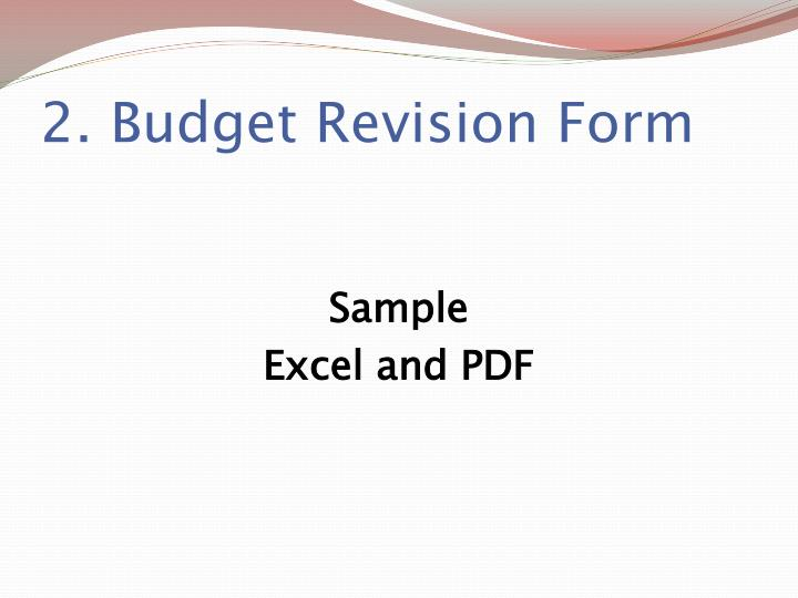 2. Budget Revision Form