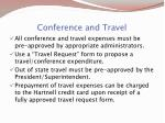 conference and travel