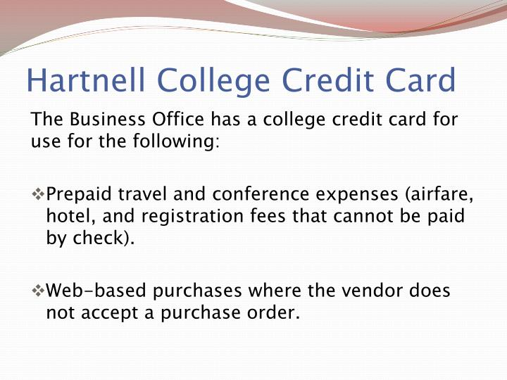 Hartnell College Credit Card