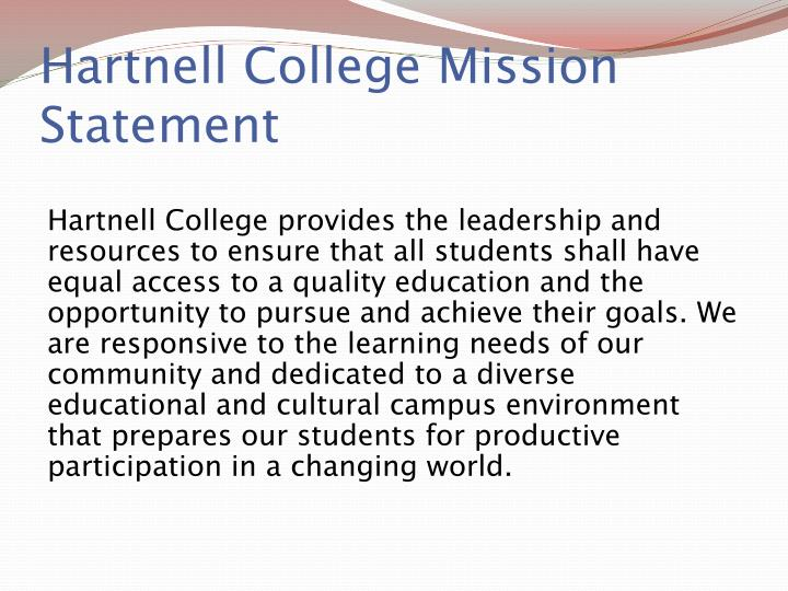 Hartnell college mission statement