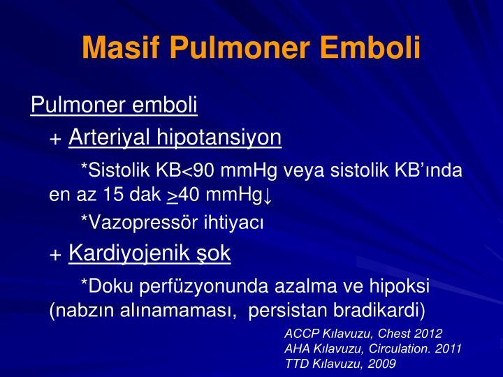 Masif Pulmoner Emboli