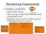 decreasing exponentials