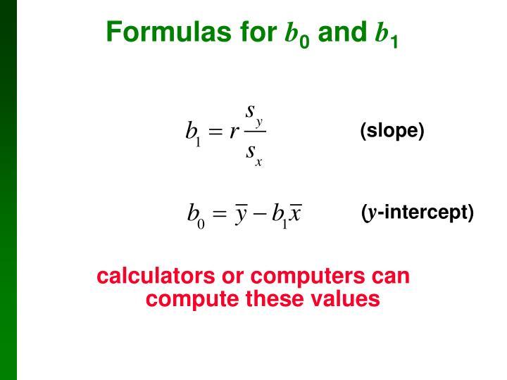 Formulas for