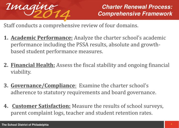 Charter Renewal Process:  Comprehensive Framework