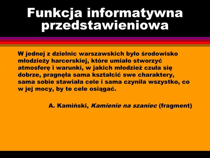 Funkcja informatywna