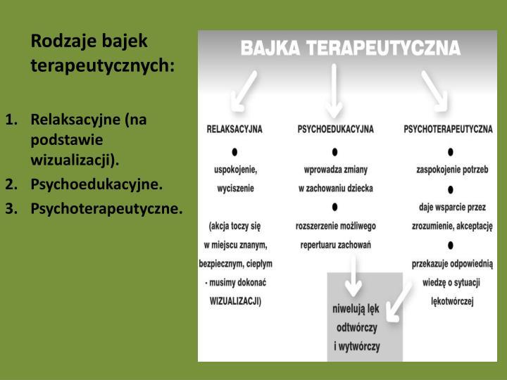 Rodzaje bajek terapeutycznych: