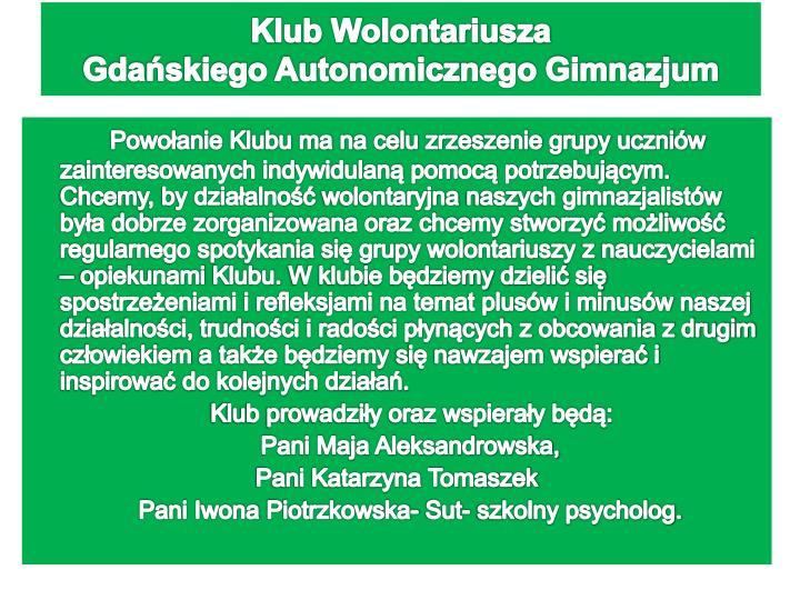 Klub Wolontariusza