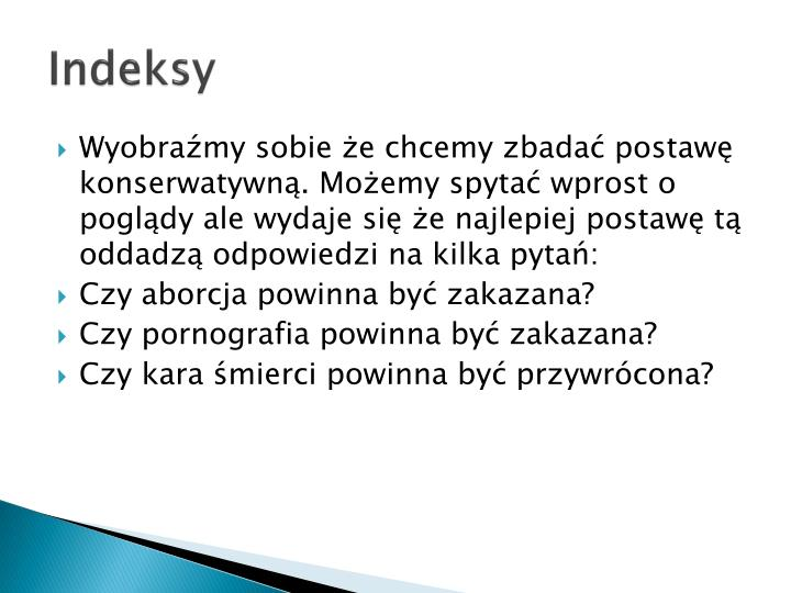 Indeksy