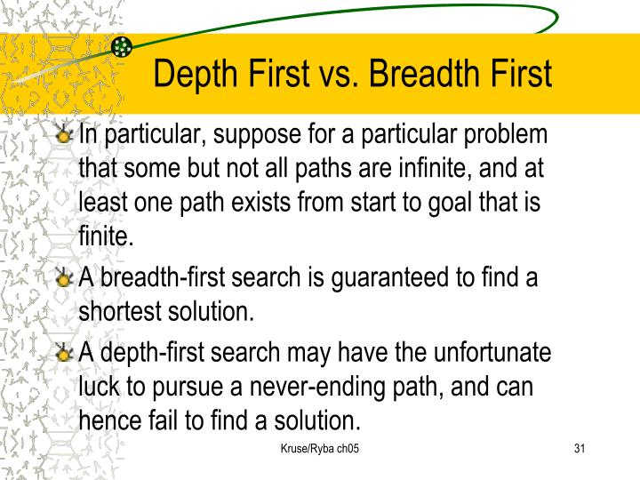 Depth First vs. Breadth First