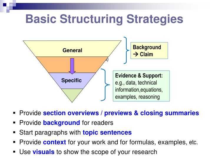 Basic Structuring Strategies