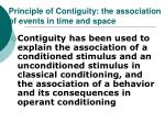 principle of contiguity the association of events in time and space