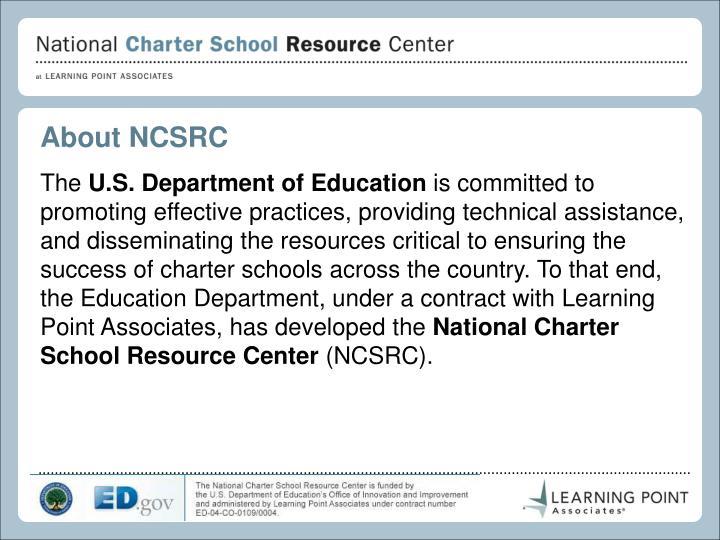 About NCSRC