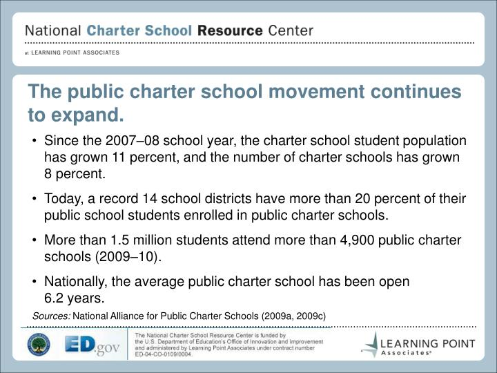 The public charter school movement continues to expand.