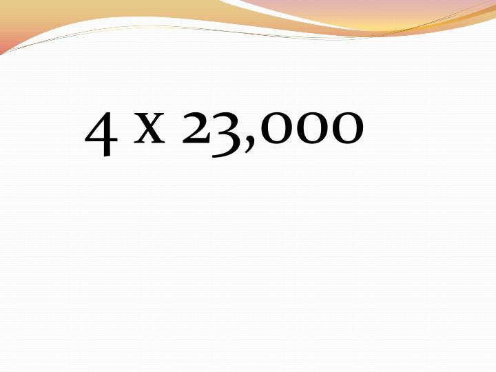 4 x 23,000