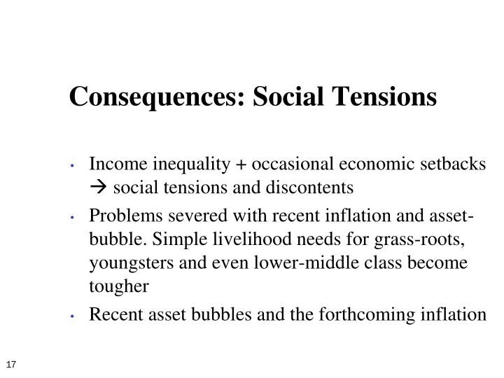 Consequences: Social Tensions