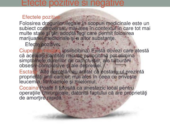 Efecte pozitive si negative