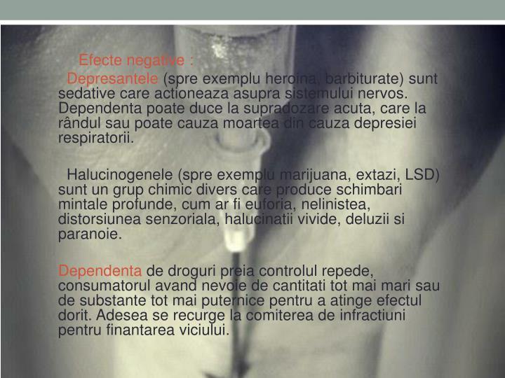 Efecte negative :