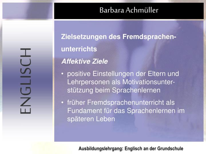 Zielsetzungen des Fremdsprachen-