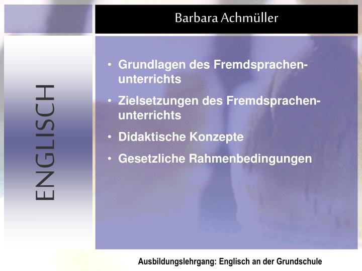 Grundlagen des Fremdsprachen-unterrichts