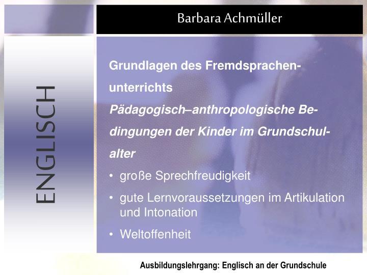 Grundlagen des Fremdsprachen-