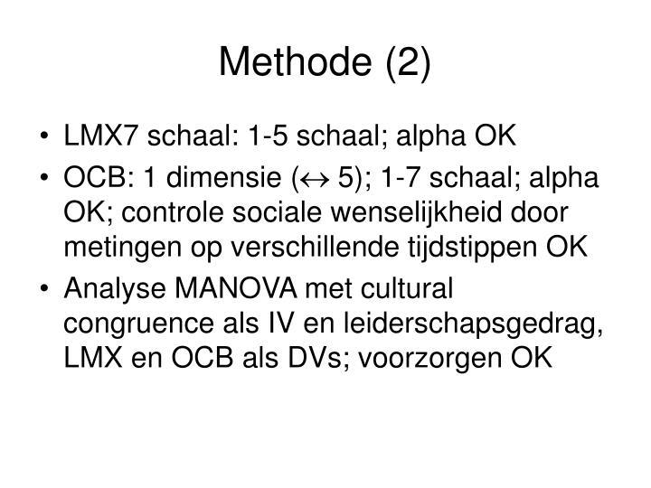 Methode (2)