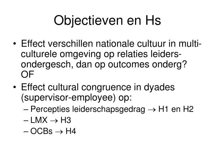 Objectieven en Hs