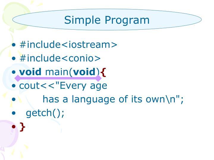 Simple Program
