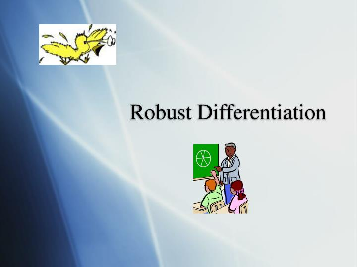 Robust differentiation
