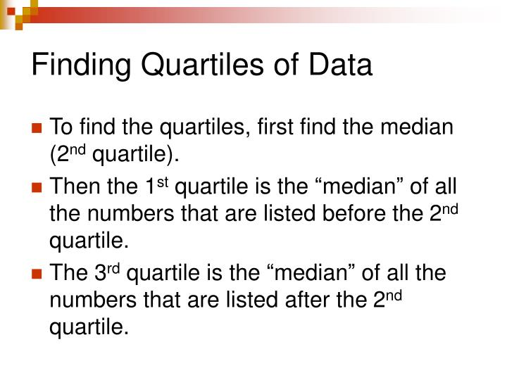Finding Quartiles of Data
