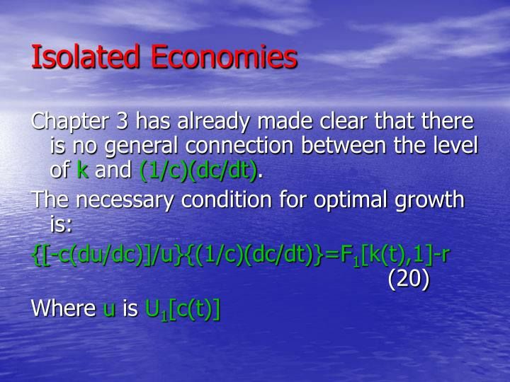 Isolated Economies