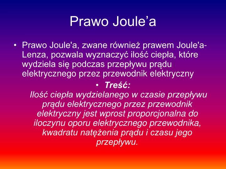 Prawo Joule'a