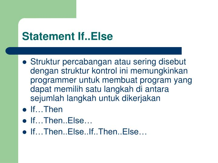Statement If..Else