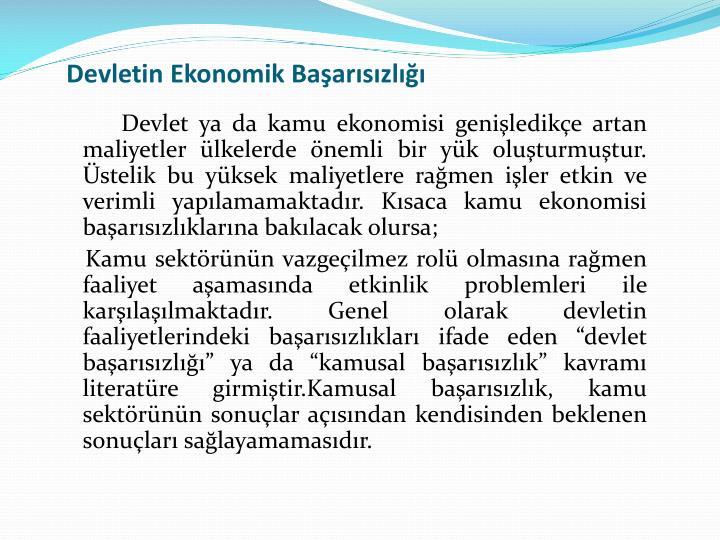 Devletin Ekonomik Baarszl