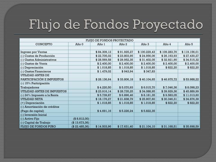 Flujo de Fondos Proyectado